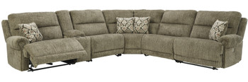 BENNETT Power Zero Wall Reclining Storage Sectional with 2 Recliners