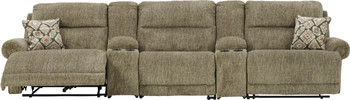 """BENNETT 155"""" Wide Power Zero Wall Reclining Sofa with Consoles"""