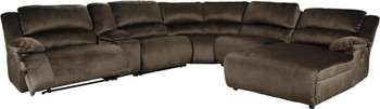 ROWAN 6 Piece Power Reclining Sectional with 3 Recliners