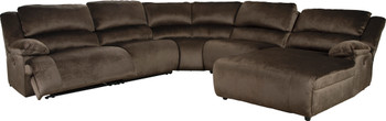 ROWAN 5 Piece Power Reclining Sectional with 3 Recliners