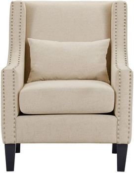 """LYDIA 29"""" Wide Beige Arm Chair"""