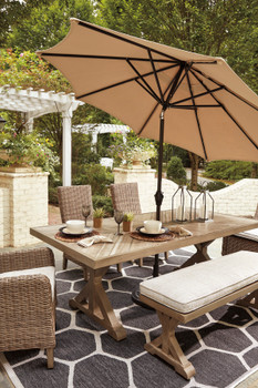 ROSGROVE 6 Piece Outdoor Dining Set with Bench