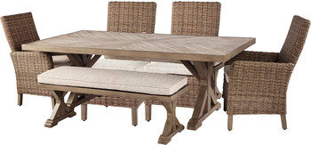 ROSGROVE 6 Piece Dining Set with Bench