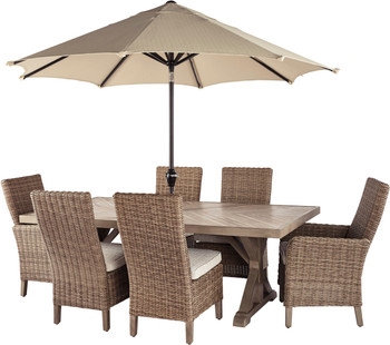ROSGROVE 7 Piece Outdoor Dining Set with Bench