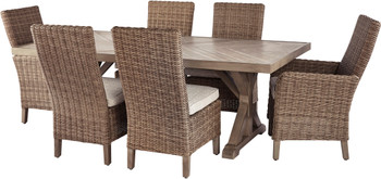 ROSGROVE 7 Piece Dining Set with Bench