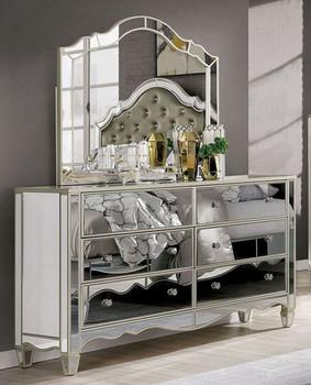 Mirrored Dresser & Mirror