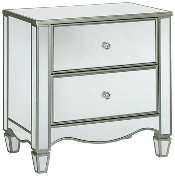 Mirrored Night Stand with USB
