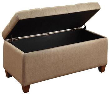 EDDY Tan Storage Bench