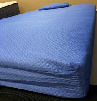 iKidz Blue Full Memory Foam Mattress and Pillow