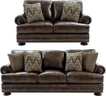 FOSTER 100% Leather Sofa & Loveseat
