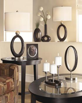 """Meckenzie Dark Brown & Nickel 30""""H Table Lamp"""