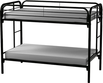 GERRY Black Twin over Twin Bunkbed
