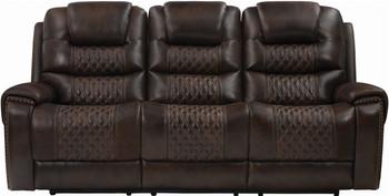 PINELLI Top-Grain Leather Power Reclining Sofa & Loveseat