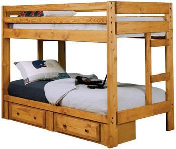 CHUCK Twin Bunkbed with Under Drawers