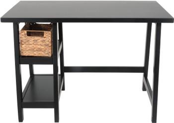 """EVIE Black 42"""" Wide Desk"""