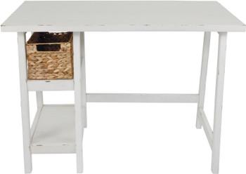 "EVIE Antique White 42"" Wide Desk"