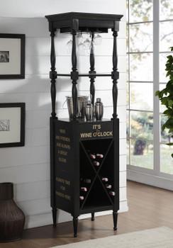 HARDIN Black Wine Cabinet
