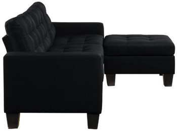 HADLEY Black Sofa and Ottoman
