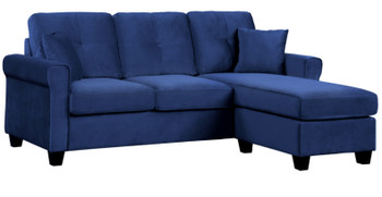 Venture Navy Blue Reversible Sectional