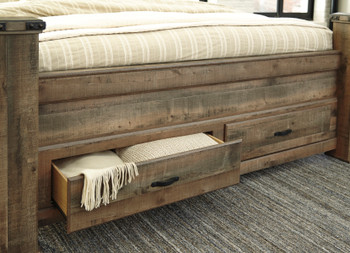 BENNI Poster Bed with Storage Drawers