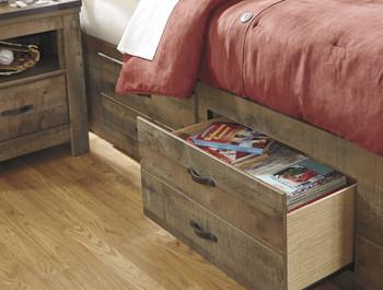 BENNI Bookcase Storage Bed