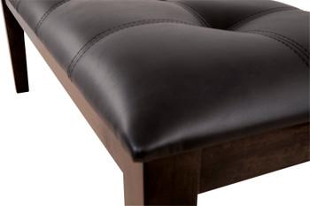 """NELA Dark Brown 50"""" Wide Dining Bench"""