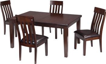 NELA Dark Brown 5 Piece Dining Set
