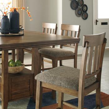 NELA Light Brown Counter Height Chair