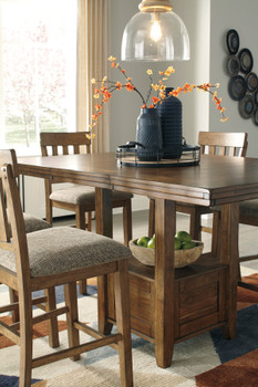 """NELA Light Brown 60"""" Wide Counter Height Table"""