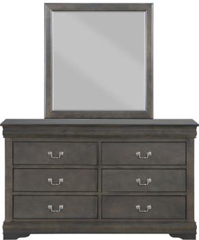 """NIMES Dark Gray 57"""" Wide Dresser & Mirror"""