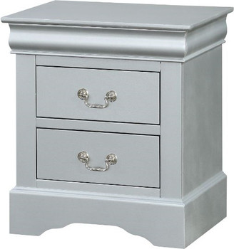 NIMES Silver Night Stand