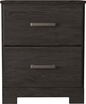 """GATELL Charcoal 22"""" Wide Nightstand"""