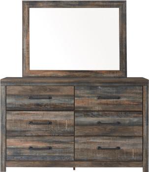 "EMEK Brown 59"" Wide Dresser & Mirror"