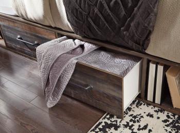 EMEK Brown Storage Platform Bed
