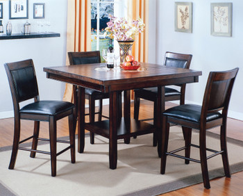 MITCHELL 5 Piece Counter Height Set with Lazy-Susan