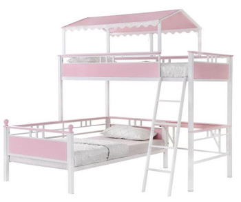 ROSALIA Twin over Twin Bunkbed with Desk