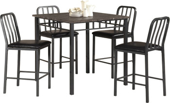 BUSTER 5 Piece Counter Height Set