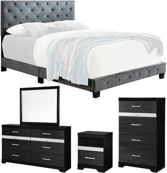 BEKEI Gray Bedroom
