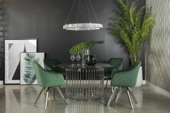 Forest Swivel Green Dining Set