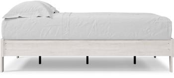 OFELIA White Platform Bed (RTA)