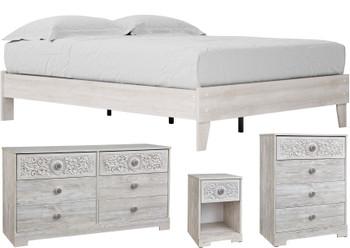 OFELIA White Platform Bedroom (RTA)
