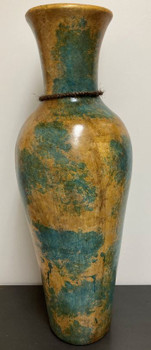 "RUTILA Green and Yellow 30.5""H Vase"