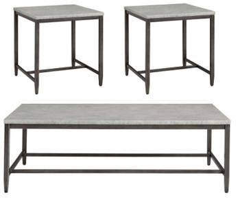 BETTON 3 Piece Faux Concrete Table Set