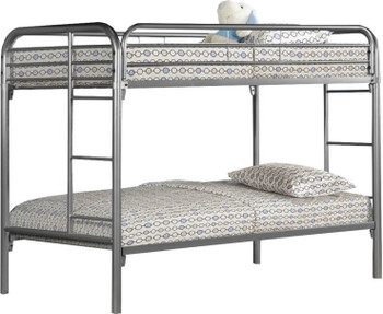 GERRY Silver Twin over Twin Bunkbed