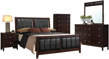 Zade Brown Clearance 7-PC Bedroom Set