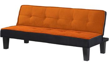 """LEOLA Orange 66"""" WideSofa Bed"""