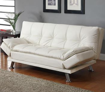 Odell White Adjustable Sofa Bed