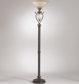 "Gavivi Dark Brown 72.5""H Floor Lamp"
