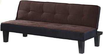 "LEOLA Chocolate 66"" Wide Sofa Bed"