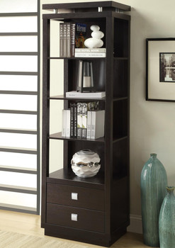 Kerri Cappuccino Media Tower with Drawers